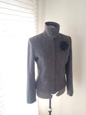 Taillierte Jacke mit Reißverschluss, Wolle, Gr. 38/ S/ M