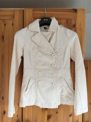 Taillierte Jacke, wollweiß, kaum getragen