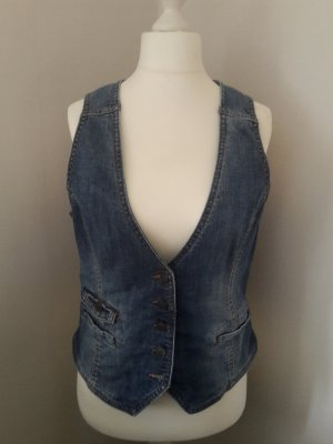 H&M L.O.G.G. Denim Vest multicolored