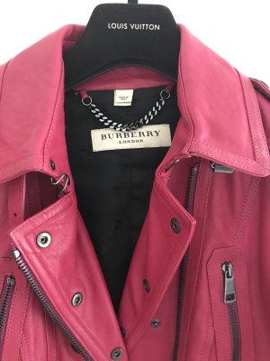 Taillierte kurze  Burberry Leder Jacke  gr 34