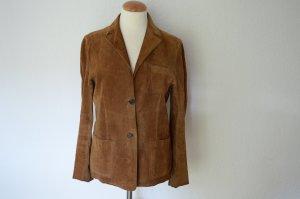 taillierte Lederjacke aus Wildleder