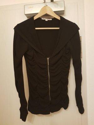 Taillierte, schwarze Pullover-Jacke von Tally Weijl (38)