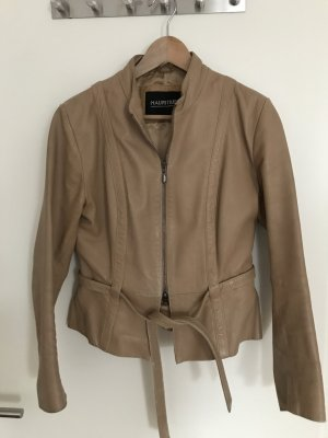 taillierte Vintage-Lederjacke