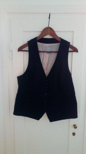 H&M Gilet de costume blanc-noir