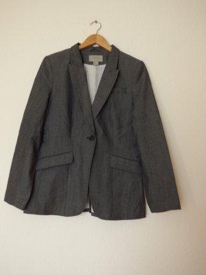 H&M Sweat Blazer dark grey-grey cotton