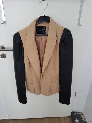 Attentif Blazer in jersey nero-beige