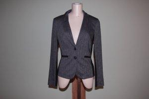 Taillierter Blazer grau-schwarz