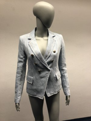 Set Denim Blazer azure cotton