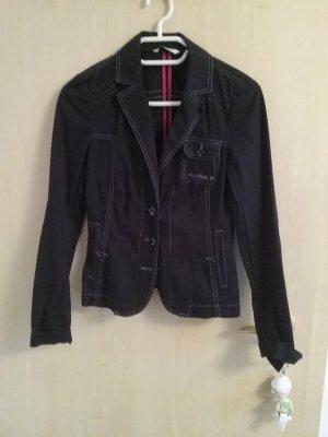 taillierter Blazer, schwarz von tom tailor
