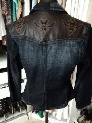 Mexx Denim Blazer brown-dark blue