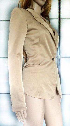 Attentif Short Blazer camel cotton