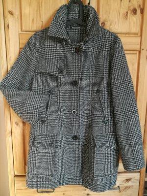 Taillierter Mantel Karo-Hahnentritt Muster