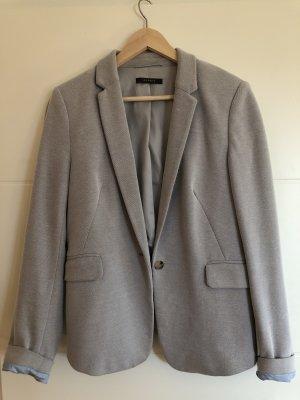 Esprit Tweed blazer lichtgrijs Katoen
