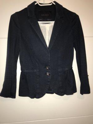 Zara Blazer de tela de sudadera azul oscuro