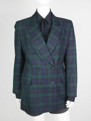 Taillierter Vintage Blazer aus reiner Schurwolle