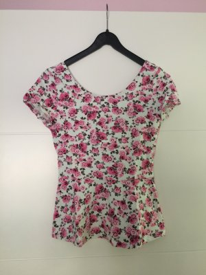 tailliertes Blumen T-Shirt
