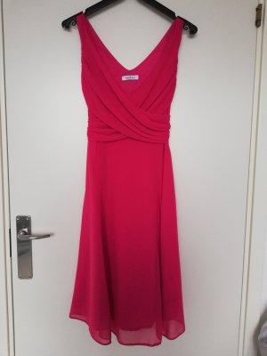 Yessica Vestido de cóctel rojo frambuesa