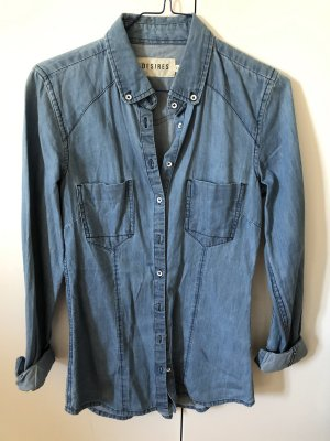 Tailliertes Jeans Hemd XS