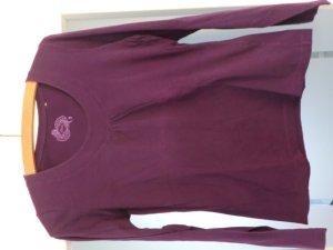 Tailliertes Landgarmshirt mit Rundhalsausschnitt