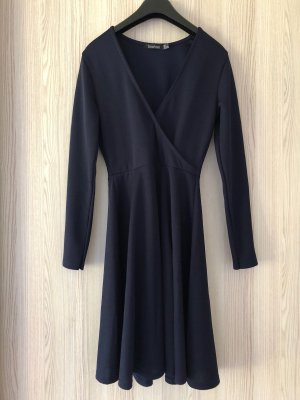Boohoo A-lijn jurk donkerblauw-blauw