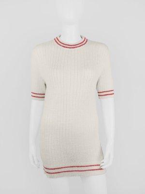 Tailliertes Vintage Strickkleid mit Streifen-Details