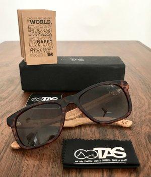 ◉  TAKE A SHOT Unisex Sonnenbrille mit Holzbügel ◉