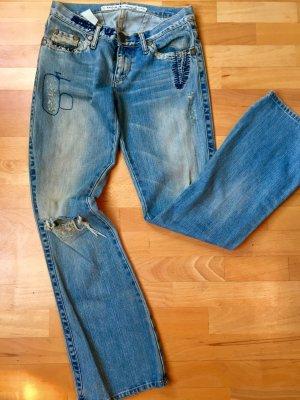 Take Two pantalón de cintura baja azul acero-azul aciano