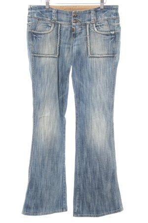 Take Two Boot Cut Jeans blau-bronzefarben Washed-Optik