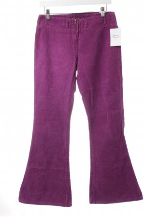 Take Two Pantalon en velours côtelé violet style décontracté