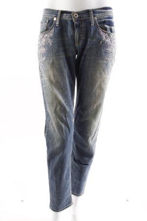 Take Two Jeans mit Glitzer-Stickerei