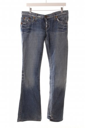 Take Two Jeansschlaghose hellblau-blau Used-Optik