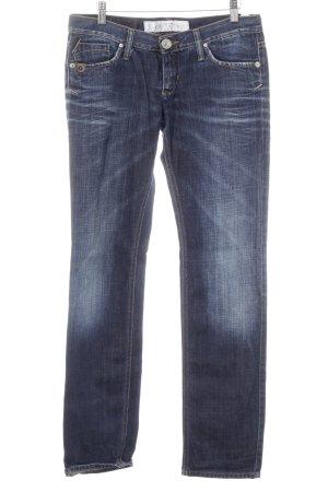 Take Two Slim Jeans dunkelblau Vintage-Look