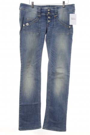 Take Two Slim jeans staalblauw-room casual uitstraling