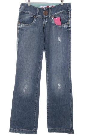 Take Two Straight-Leg Jeans blau-bronzefarben Vintage-Look
