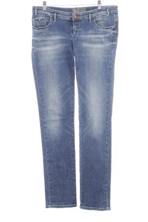 Take Two Straight-Leg Jeans stahlblau-dunkelblau Street-Fashion-Look