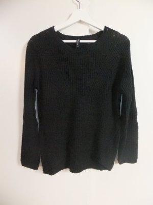 Takko Knitted Sweater black polyacrylic