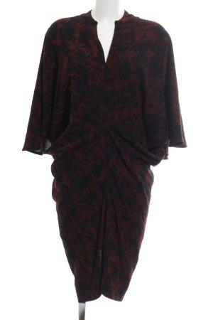 Talbot Runhof Abendkleid schwarz-rot Allover-Druck Elegant