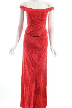 Talbot Runhof Abendkleid rot Blumenmuster Eleganz-Look