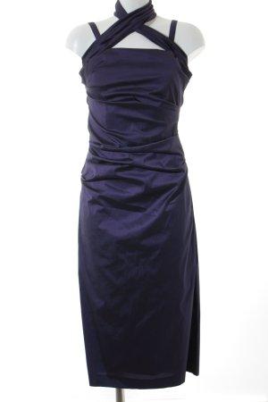 Talbot Runhof Abito longuette viola scuro-nero elegante