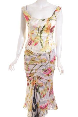 Talbot Runhof Kostüm florales Muster extravaganter Stil