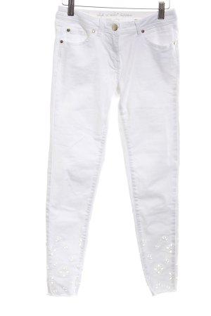talk about 7/8 Jeans weiß Romantik-Look
