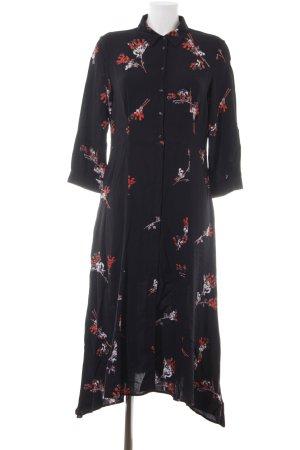 talk about Midi Dress black floral pattern casual look