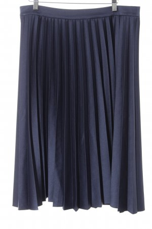 talk about Pleated Skirt dark blue elegant