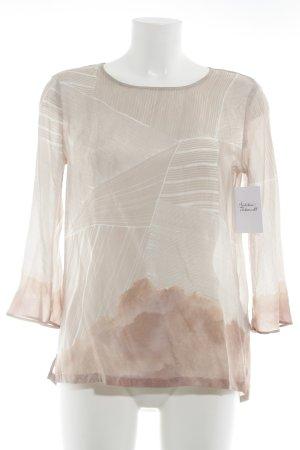 talk about Seidenbluse altrosa-weiß abstraktes Muster schlichter Stil
