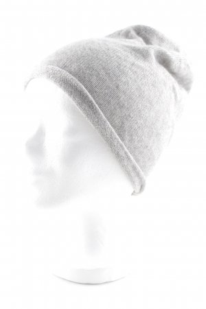talk about Knitted Hat light grey casual look