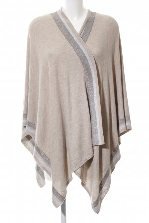 talk about Strickponcho Streifenmuster Casual-Look