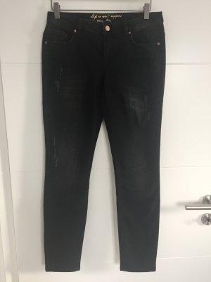 talk about Jeans a 7/8 nero Cotone