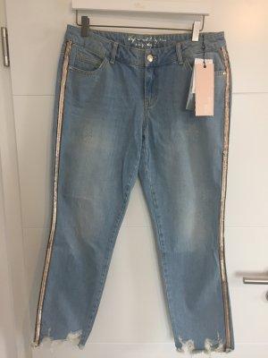 talk about Jeans a 7/8 grigio ardesia-azzurro Cotone