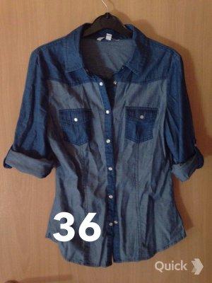 Tally Jeansbluse blau