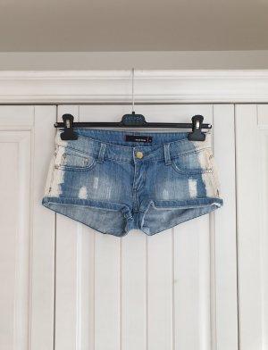 Tally weijl 34 Shorts XS Hotpants hot pants weiß blau hose jeans